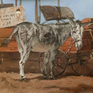 original oil painting by Linda Budge - A couple of oldies - burro