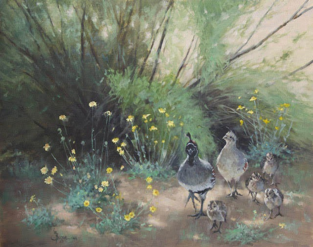 original oil painting by Linda Budge - an afternoon stroll