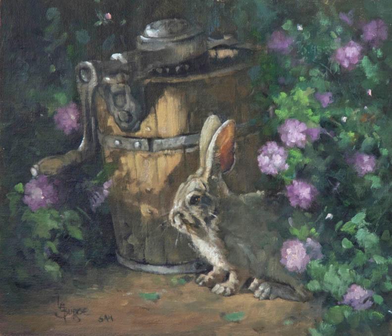 original oil painting by Linda Budge - MAKE MINE STRAWBERRY