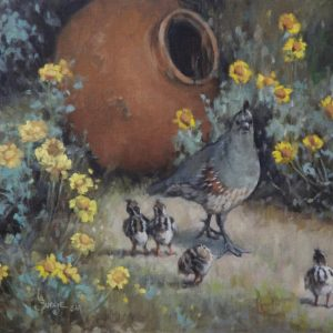original oil painting by Linda Budge - Whats a pot