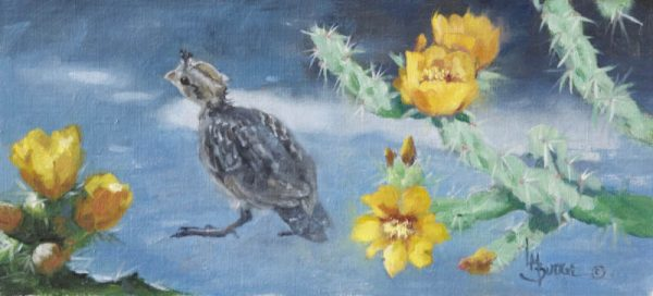 original oil painting by Linda Budge - BABY QUAIL
