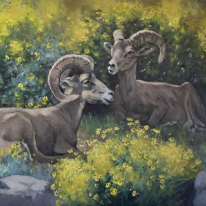 original oil painting by Linda Budge - Sanctuary